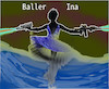 Cartoon: wahre kunst (small) by wheelman tagged tanz,ballett,kunst,waffe,name