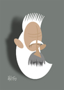 Cartoon: Constantin Brancusi (small) by geomateo tagged constantin,brancusi,romania,sculpture