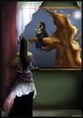 Cartoon: Watcher (small) by LunaticArt tagged photoshop,gothic