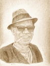 Cartoon: LIGHTNING HOPKINS (small) by CASTOR tagged blues,musician