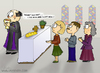 Cartoon: Weinmesse (small) by katelein tagged wein,wine,pfarrer,kirche,messe