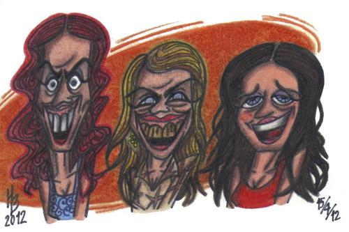 Cartoon: Las Ketchup - Asereje (medium) by HaBer tagged 2002,asereje,ketchup