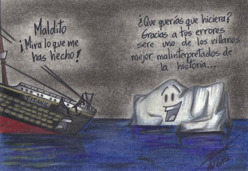 Cartoon: Sin rencores (medium) by HaBer tagged aniversario,100,titanic