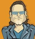 Cartoon: bono (small) by michaelscholl tagged bono
