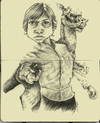 Cartoon: Luke Skywalker (small) by michaelscholl tagged star,wars,luke,skywalker,tan