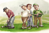 Cartoon: the mouth (small) by michaelscholl tagged golf,sport,putting,talking