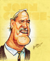 Cartoon: John Cleese (small) by bharatkv tagged john,cleese,english,actor,funny,caricature,cartoon,pastels,bharat,india,comedian,hollywood