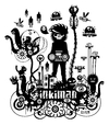 Cartoon: INKIMAN (small) by exit man tagged inkiman,sound