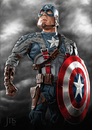 Cartoon: Captain America (small) by JMSartworks tagged caricature,actors,hollywood,painter,comic,superheroe