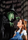 Cartoon: Dorothy and the Witch (small) by JMSartworks tagged caricature,actors,filmmakers,hollywood,paintool,sai,painter
