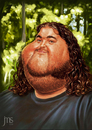 Cartoon: Hurley (small) by JMSartworks tagged caricature,actors,filmmakers,hollywood,paintool,sai,painter