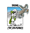 Cartoon: Frohe Ostern (small) by Toeby tagged eis,frost,gruß,kalt,osterhase,ostern,superheld,toeby,mark,töbermann