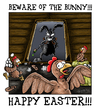 Cartoon: Happy Easter 2011 (small) by Toeby tagged easter bunny rabbit chicken eastereggs toeby mark töbermann