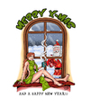 Cartoon: Merry X-Mas (small) by Toeby tagged santa,claus,redhead,christmas,toeby,mark,töbermann