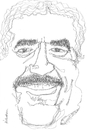 Cartoon: Gabriel Garcia Marquez (small) by Atilla Atala tagged gabriel,garcia,marquez,author,writer