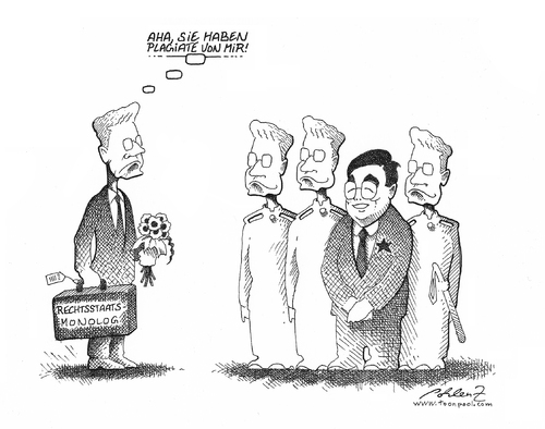 Cartoon: China Visit (medium) by Pohlenz tagged westerwelle,china,fdp