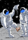 Cartoon: space (small) by oguzgurel tagged space