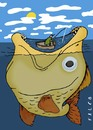 Cartoon: fisherman (small) by alexfalcocartoons tagged fisherman