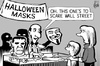 Cartoon: Wall Street mask (small) by sinann tagged occupy,wall,street,vendetta,mask,halloween