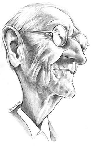 Cartoon: HERMANN HESSE (medium) by ALEX gb tagged hermann,hesse,writer,literature,german,russian,swiss,novelist,alex