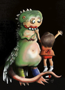 Cartoon: My cute monster (small) by taravat niki tagged monster,love,friendship,animal,children