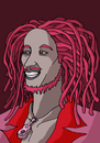 Cartoon: BOB MARLEY (small) by MERT_GURKAN tagged famous,singer,musician,jamaica,portrait,caricature