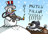 Cartoon: SNOWMAN (small) by MERT_GURKAN tagged caricature,snowman