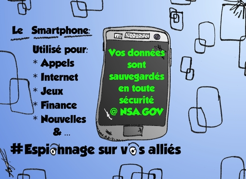 Cartoon: Sauvegarde Smartphone de la NSA (medium) by BinaryOptions tagged nsa,national,security,agency,espionnage,surveillance,sauvegarde,donnees,smartphones,espion,caricature,webcomic,comique,option,binaire,options,binaires,optionsclick,politique,editoriale,nouvelles,infos,news,actualites,satire
