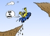 Cartoon: All Is Well - Euroman Cartoon (small) by BinaryOptions tagged optionsclick,binary,option,options,news,caricature,cartoon,editorial,financial,economic,currency,eur,euro,europe,euroman