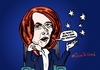 Cartoon: Ousted Julia Gillard comic (small) by BinaryOptions tagged julia,gillard,australia,prime,minister,binary,option,options,trade,trading,optionsclick,editorial,cartoon,caricature,political,business,news