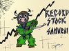 Cartoon: Record Stock Samurai (small) by BinaryOptions tagged optionsclick,option,binaire,options,binaires,taureau,samurai,hausse,record,stock,actif,action,asie,asiatique,art,caricature,comique,webcomic,financier,affaire,news,infos,actualites,nouvelles,trader,trading,investir,investissement