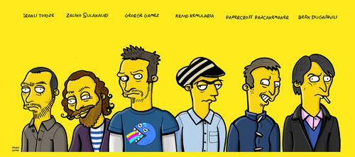 Cartoon: GEO - Painters (medium) by gamez tagged yellow,gamez,simpsons