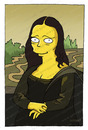 Cartoon: Mona Lisa (small) by gamez tagged mona,lisa,simpsons,joconde,yellow,guy
