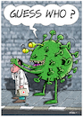 Cartoon: Guess Who (small) by Ridha Ridha tagged guess,who,virus,corona,doctors,scientists,cartoon,ridha