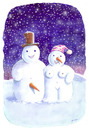 Cartoon: Love in Winter (small) by Ridha Ridha tagged love,in,winter,cartoon,by,ridha