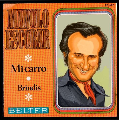 Cartoon: Manolo Escobar. Mi carro (medium) by carcoma tagged copla,flamenco,escobar,carro,spain,manolo