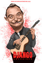 Cartoon: Django Reinhardt Unchained (small) by carcoma tagged django,reinhrdt,unchained,movie,western,tarantino,film,desencadenado,caricatura,cine