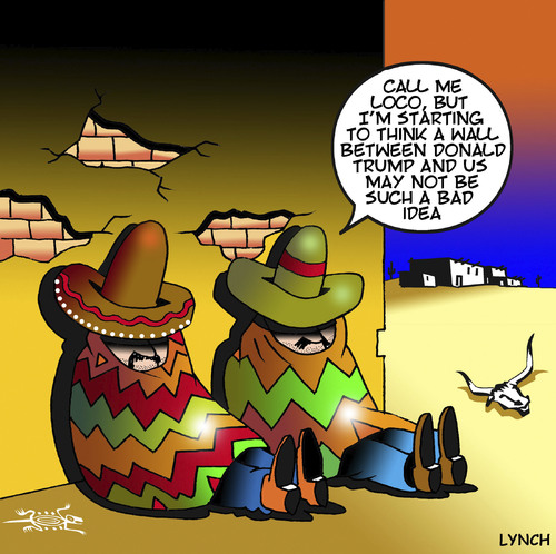 Cartoon: Donald Trumps wall (medium) by toons tagged donald,trump,mexican,wall,siesta,the,mexico,donald,trump,mexican,wall,siesta,the,mexico