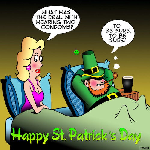 Cartoon: Leprechauns (medium) by toons tagged st,patricks,day,leprechauns,condoms,irish,accent,ireland,little,people,st,patricks,day,leprechauns,condoms,irish,accent,ireland,little,people