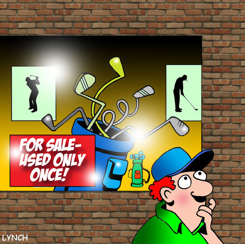 Cartoon: Only used once (medium) by toons tagged golf,sport,clubs,anger,sales,course