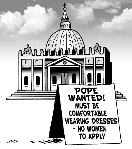 Cartoon: Pope wanted (medium) by toons tagged pope,papal,election,enclave,resigns,women,priests