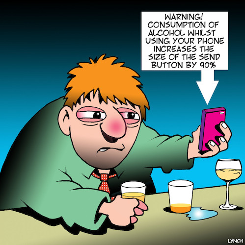 Cartoon: Send button (medium) by toons tagged texting,whiole,drunk,warning,sign,send,button,alcohol,consumption,texting,whiole,drunk,warning,sign,send,button,alcohol,consumption