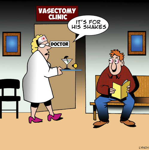 Cartoon: Shakes (medium) by toons tagged vasectomy,martini,the,shakes,doctors,surgery,alcoholism,vasectomy,martini,the,shakes,doctors,surgery,alcoholism
