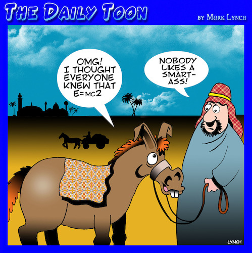Cartoon: Smart Ass (medium) by toons tagged einsteins,theory,ass,donkey,middle,east,einsteins,theory,ass,donkey,middle,east