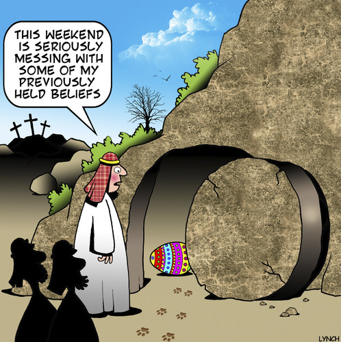 Cartoon: The Resurrection (medium) by toons tagged easter,the,resurrection,apostles,life,after,death,bunny,eggs,religious,beliefs,easter,the,resurrection,apostles,life,after,death,bunny,eggs,religious,beliefs
