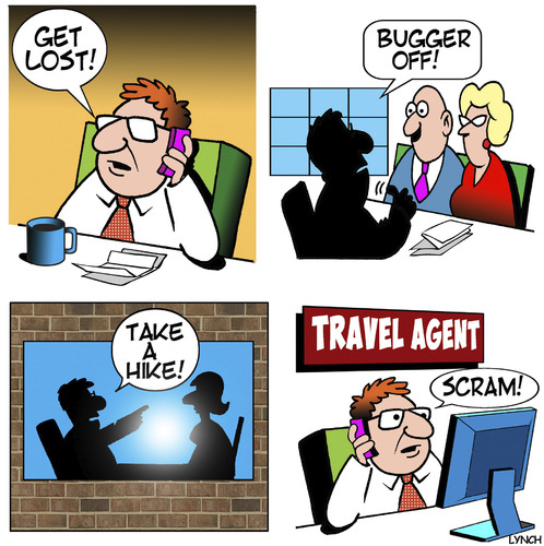 Cartoon: Travel agency (medium) by toons tagged travel,agency,consultant,air,cruising,travel,agency,consultant,air,cruising