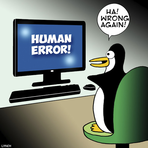 Cartoon: Wrong again (medium) by toons tagged human,error,computer,glitch,penguins,downloads,animals,freeze,human,error,computer,glitch,penguins,downloads,animals,freeze