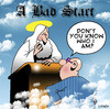 Cartoon: A bad start (small) by toons tagged heaven,religion,god,self,importance,ego,angels,st,peter,death,afterlife