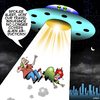 Cartoon: Abducted by aliens (small) by toons tagged travel,insurance,aliens,the,universe,alien,life,kidnapping