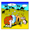 Cartoon: air bag (small) by toons tagged prehistoric,the,wheel,air,bags,inventions,dinosaurs